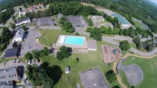 Aerial view of the Rec Department. Photo by: Mike Moriarty